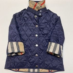 Burberry Toddler Jacket Girl Boy 4Y Check EUC